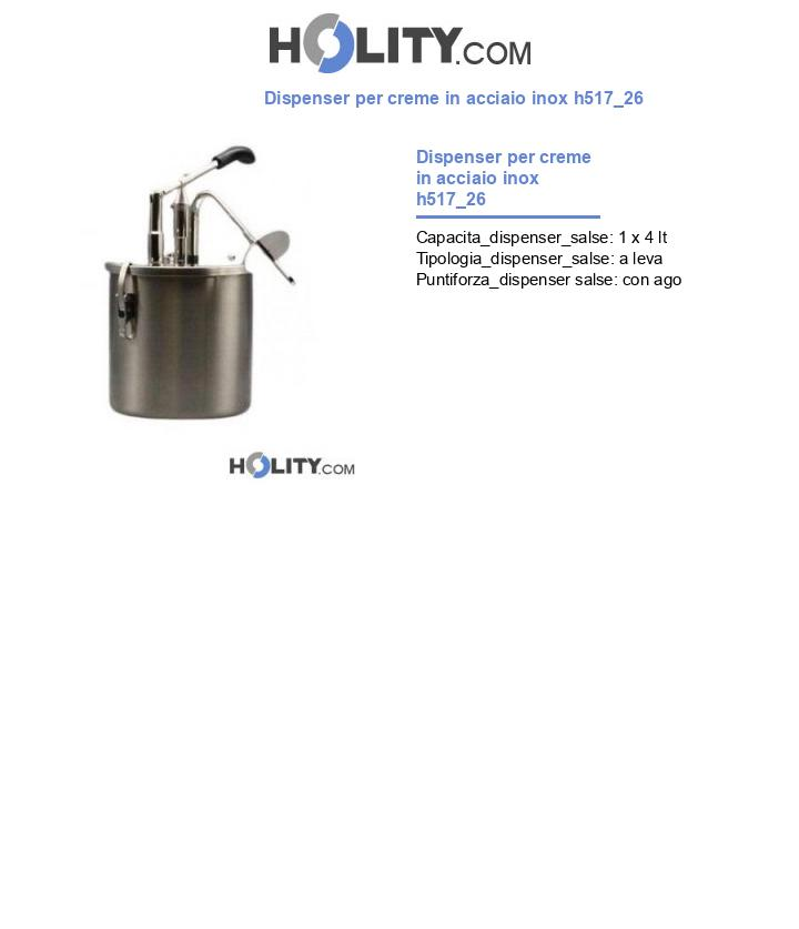 Dispenser per creme in acciaio inox h517_26