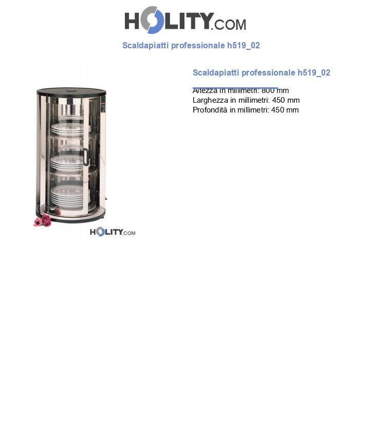 Scaldapiatti professionale h519_02