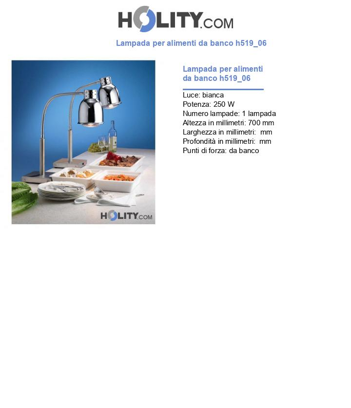 Lampada per alimenti da banco h519_06