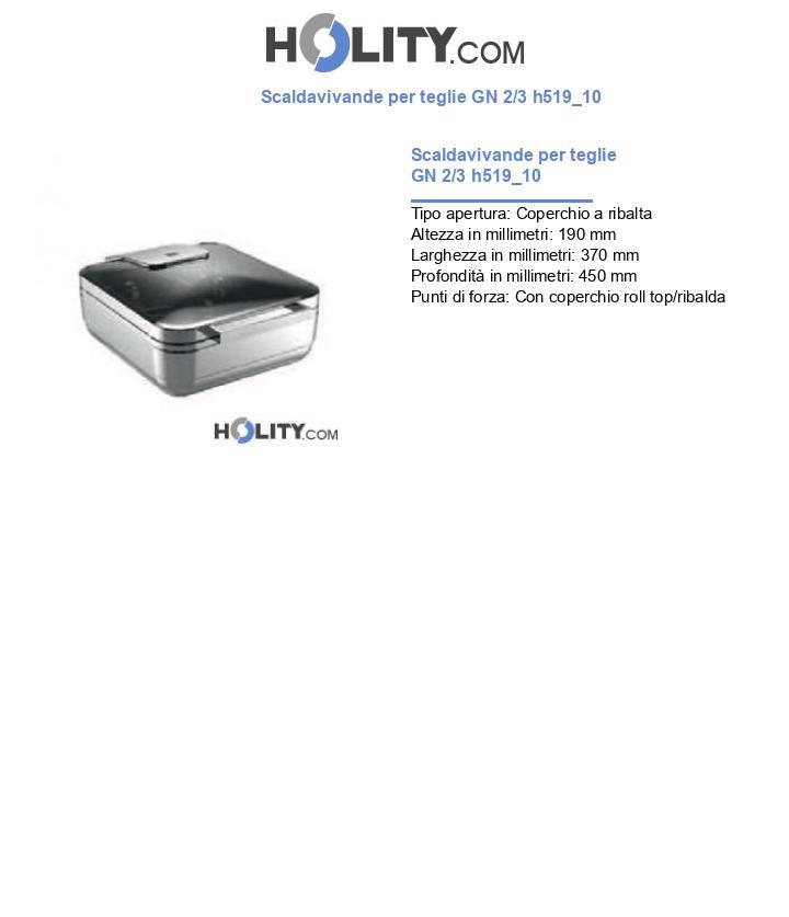 Scaldavivande per teglie GN 2/3 h519_10