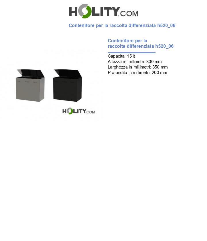 Contenitore per la raccolta differenziata h520_06