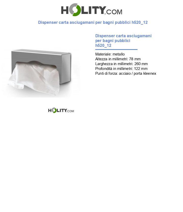 Dispenser carta asciugamani per bagni pubblici h520_12