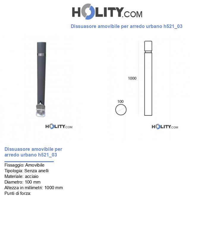 Dissuasore amovibile per arredo urbano h521_03