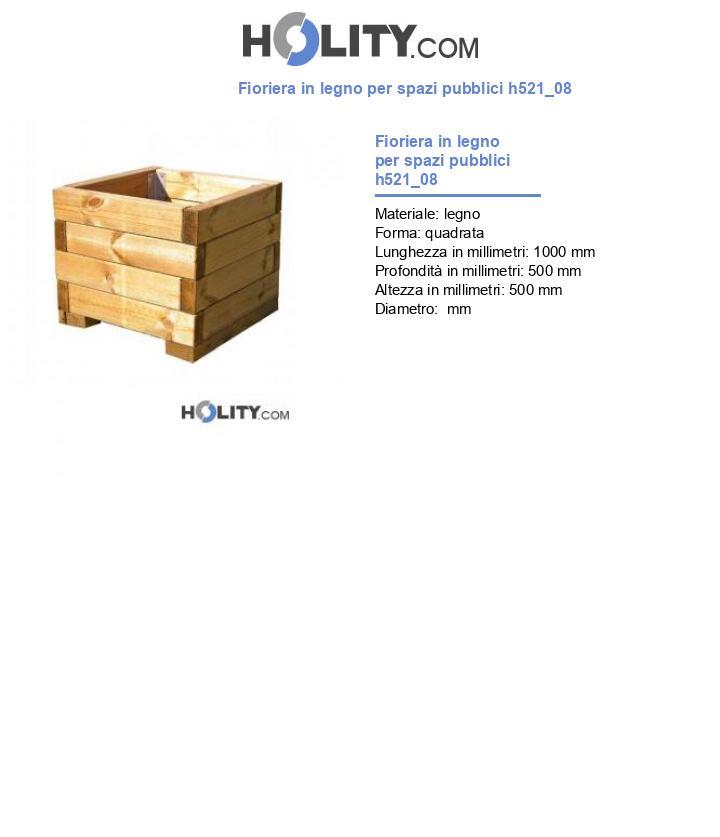 Fioriera in legno per spazi pubblici h521_08