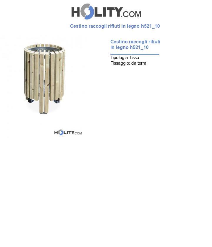 Cestino raccogli rifiuti in legno h521_10