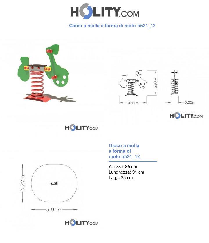 Gioco a molla a forma di moto h521_12