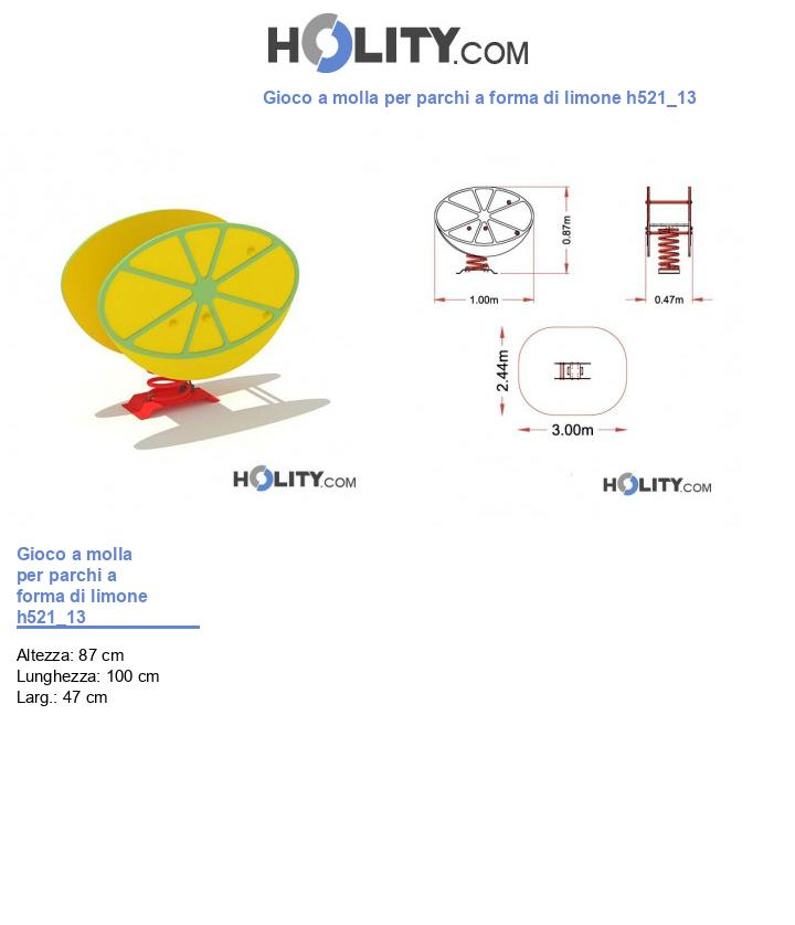 Gioco a molla per parchi a forma di limone h521_13
