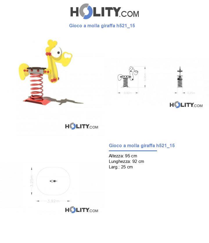 Gioco a molla giraffa h521_15