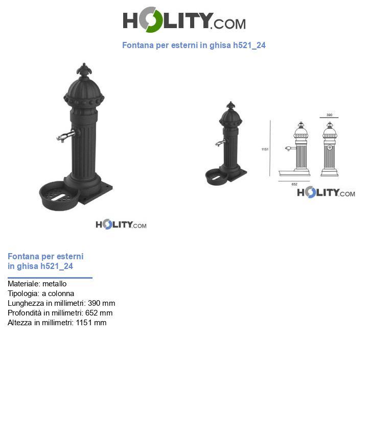 Fontana per esterni in ghisa h521_24