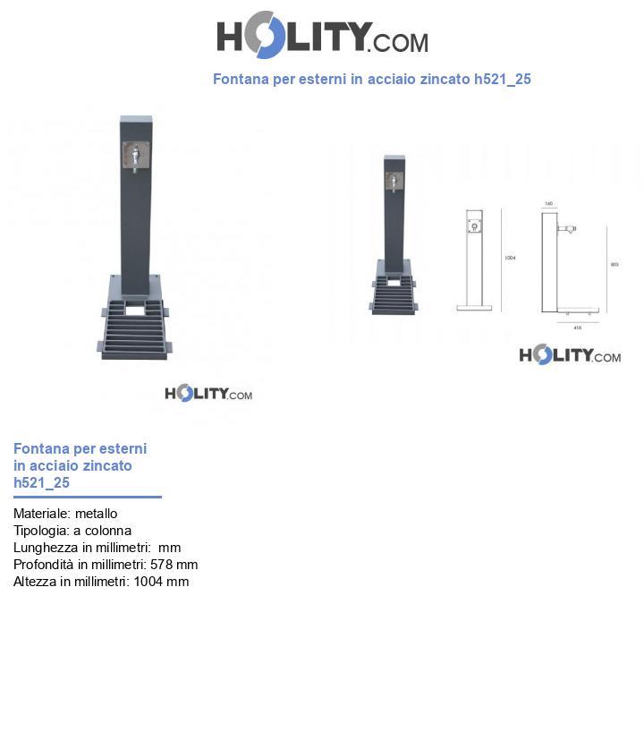 Fontana per esterni in acciaio zincato h521_25