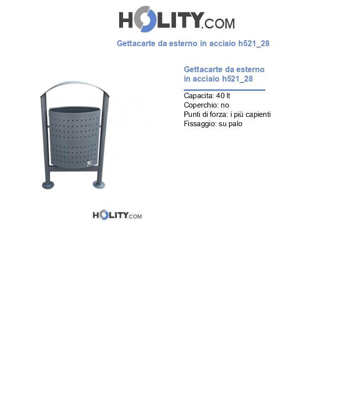 Gettacarte da esterno in acciaio h521_28