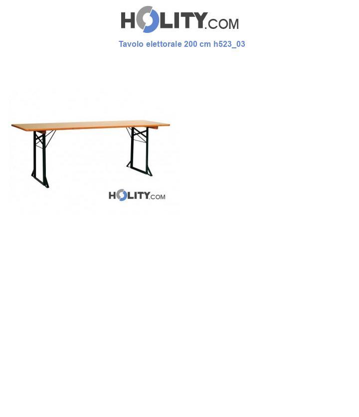 Tavolo elettorale 200 cm h523_03