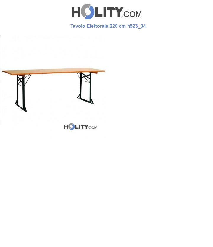 Tavolo Elettorale 220 cm h523_04