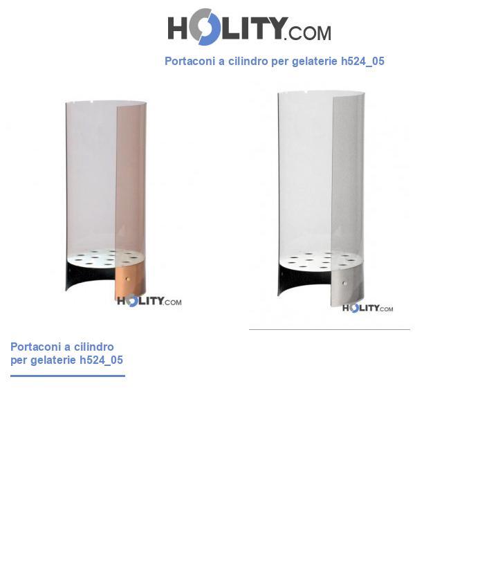 Portaconi a cilindro per gelaterie h524_05