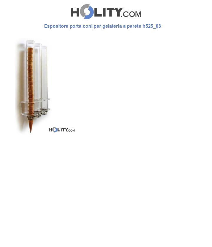 Espositore porta coni per gelateria a parete h525_03