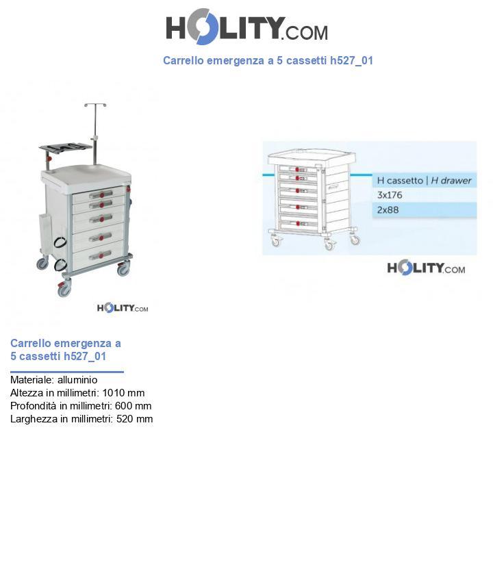Carrello emergenza a 5 cassetti h527_01