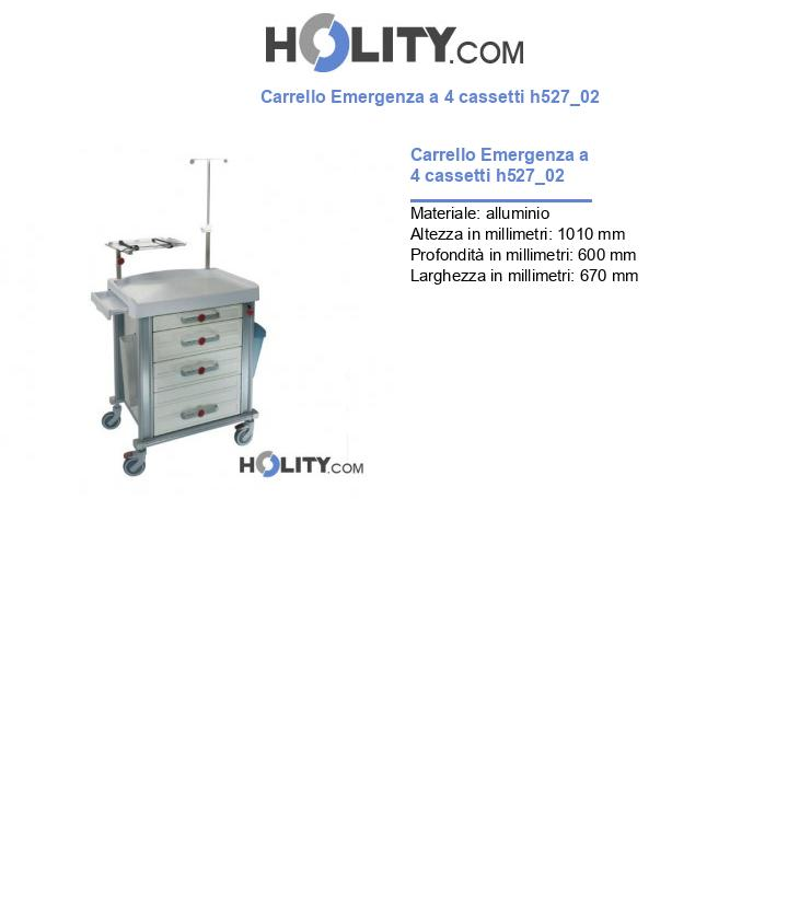 Carrello Emergenza a 4 cassetti h527_02