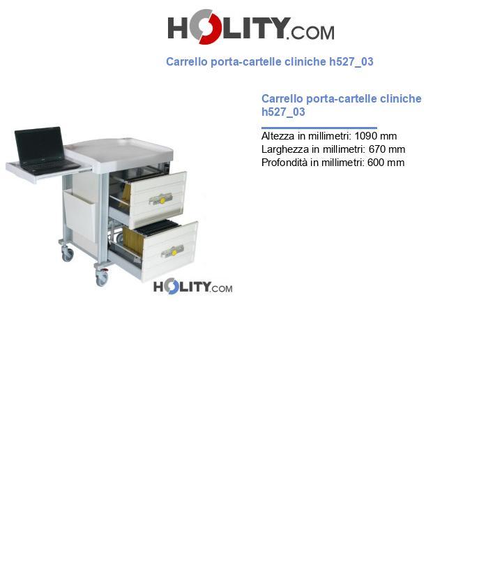 Carrello porta-cartelle cliniche h527_03