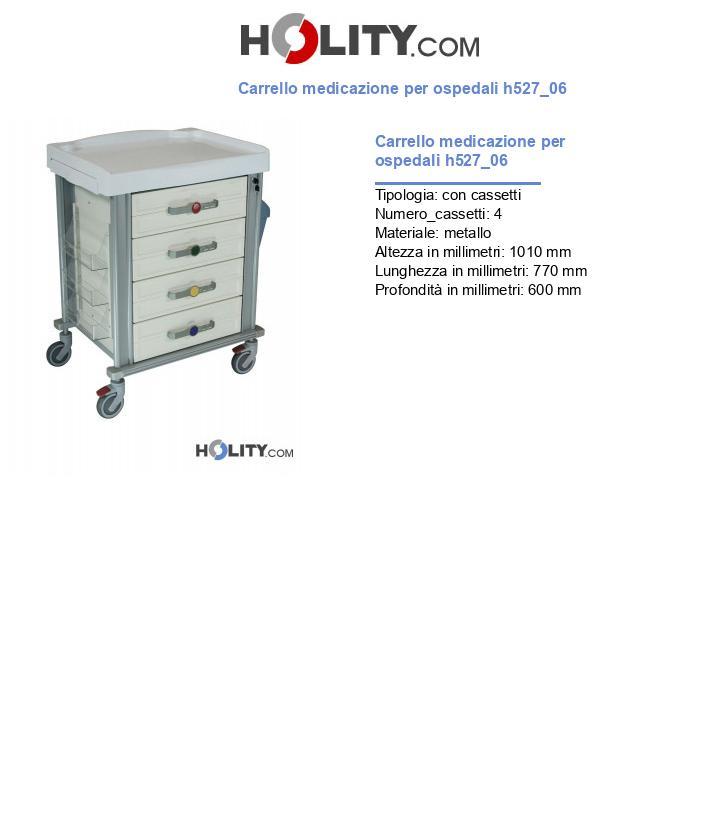 Carrello medicazione per ospedali h527_06
