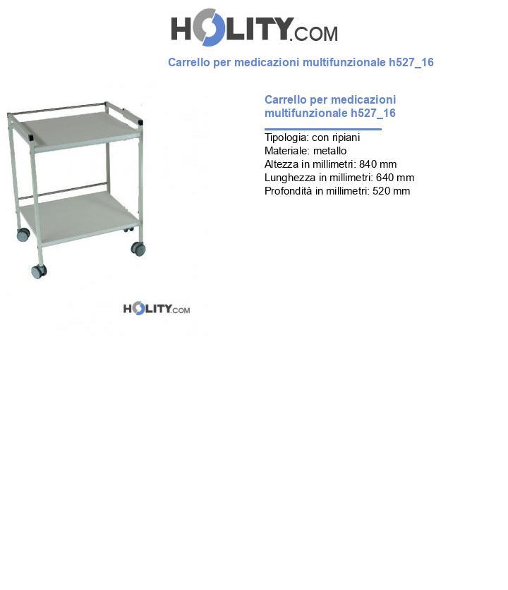 Carrello per medicazioni multifunzionale h527_16