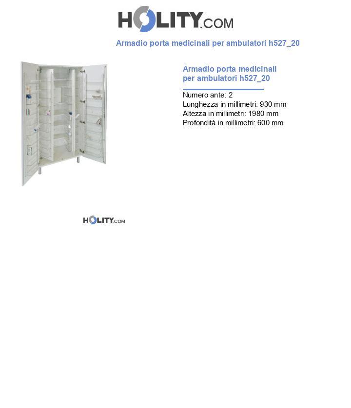 Armadio porta medicinali per ambulatori h527_20