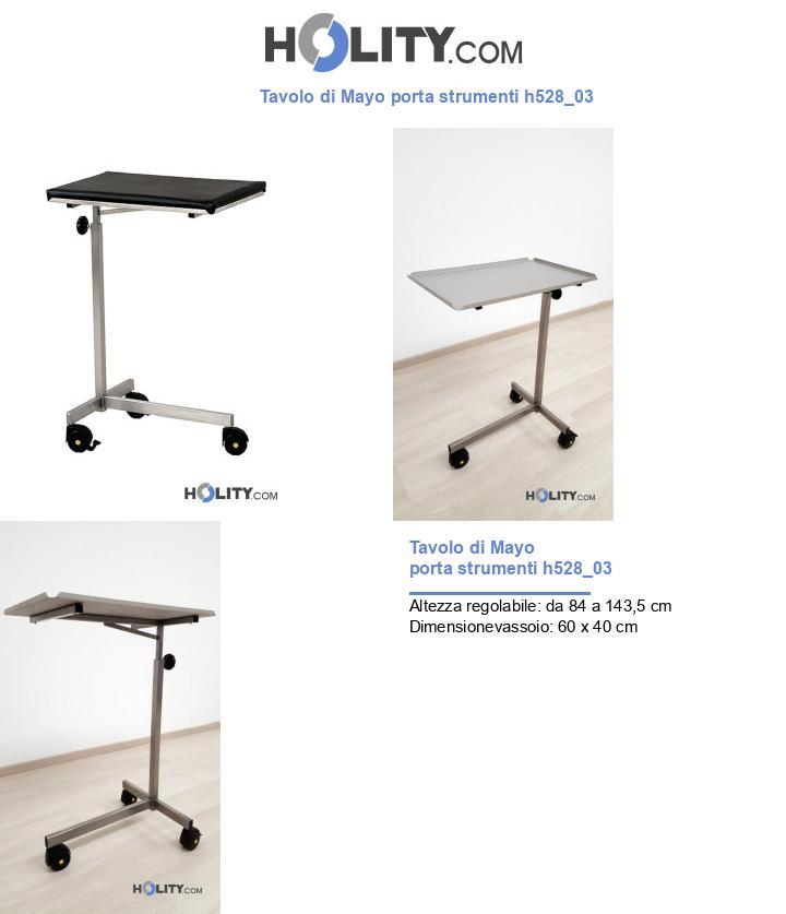 Tavolo di Mayo porta strumenti h528_03
