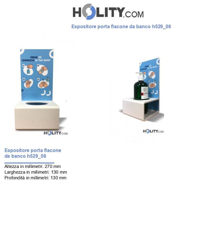 Espositore porta flacone da banco h529_08