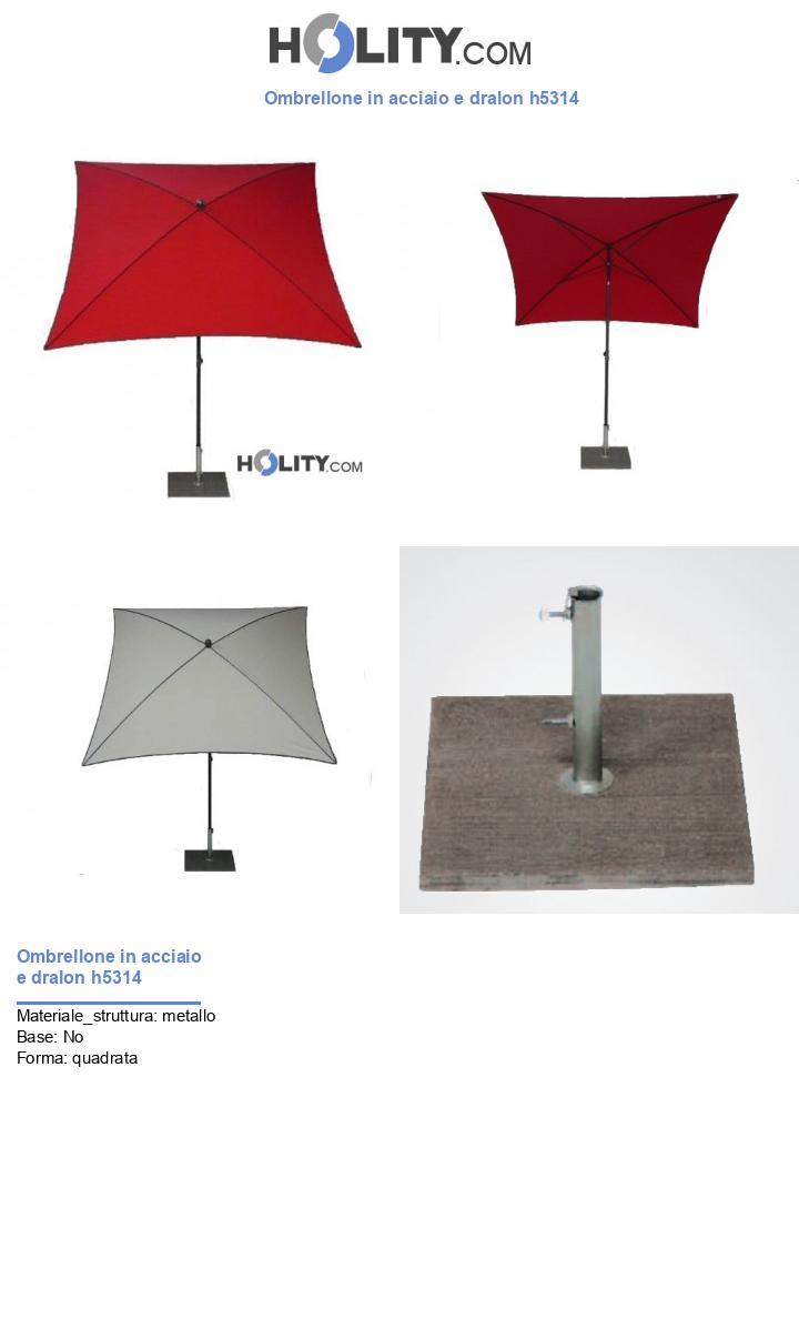 Ombrellone in acciaio e dralon h5314