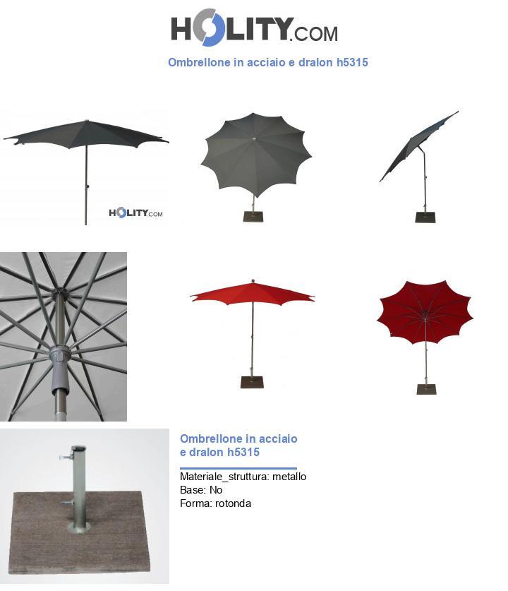 Ombrellone in acciaio e dralon h5315
