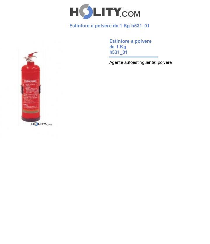 Estintore a polvere da 1 Kg h531_01