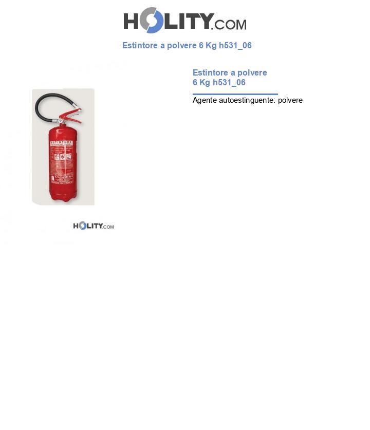 Estintore a polvere 6 Kg h531_06
