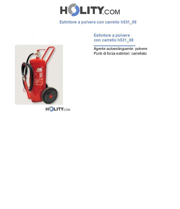 Estintore a polvere con carrello h531_08