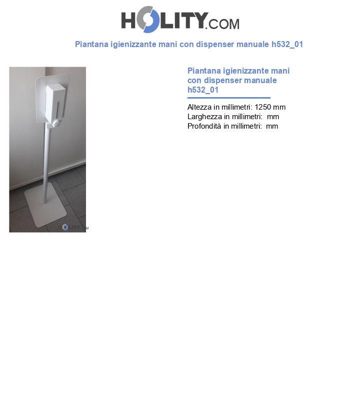 Piantana igienizzante mani con dispenser manuale h532_01