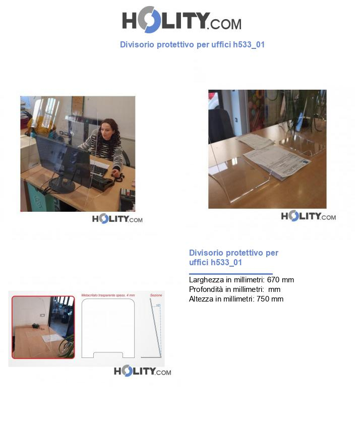 Divisorio protettivo per uffici h533_01