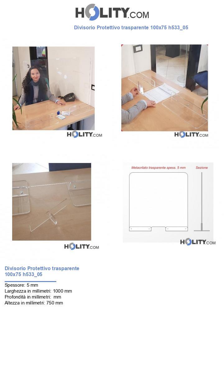 Divisorio Protettivo trasparente 100x75 h533_05