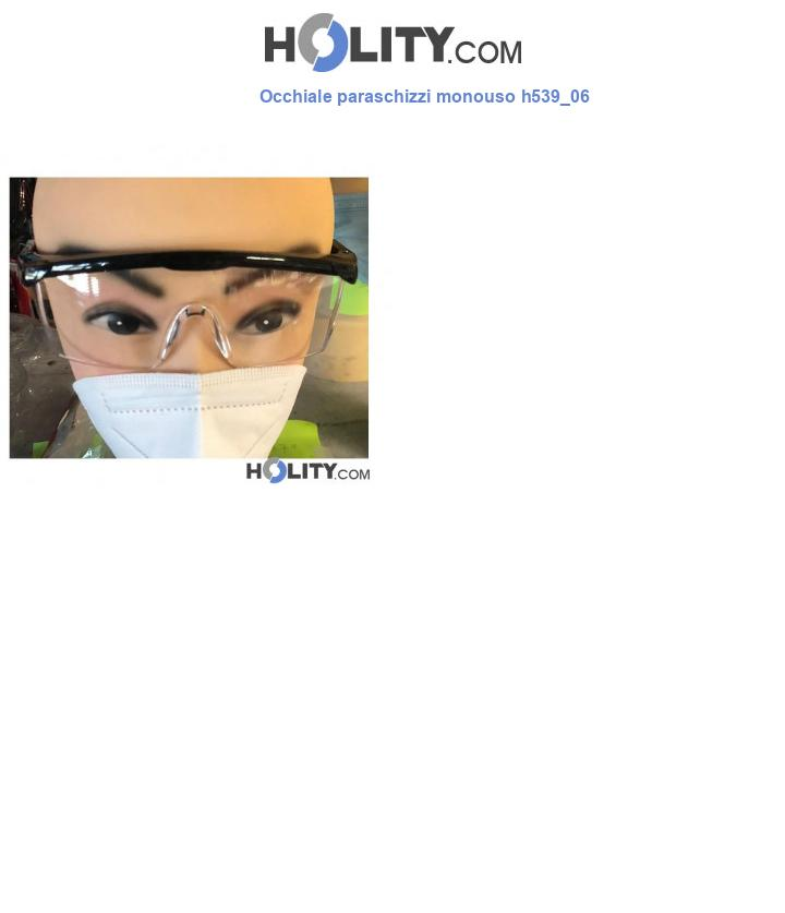 Occhiale paraschizzi monouso h539_06