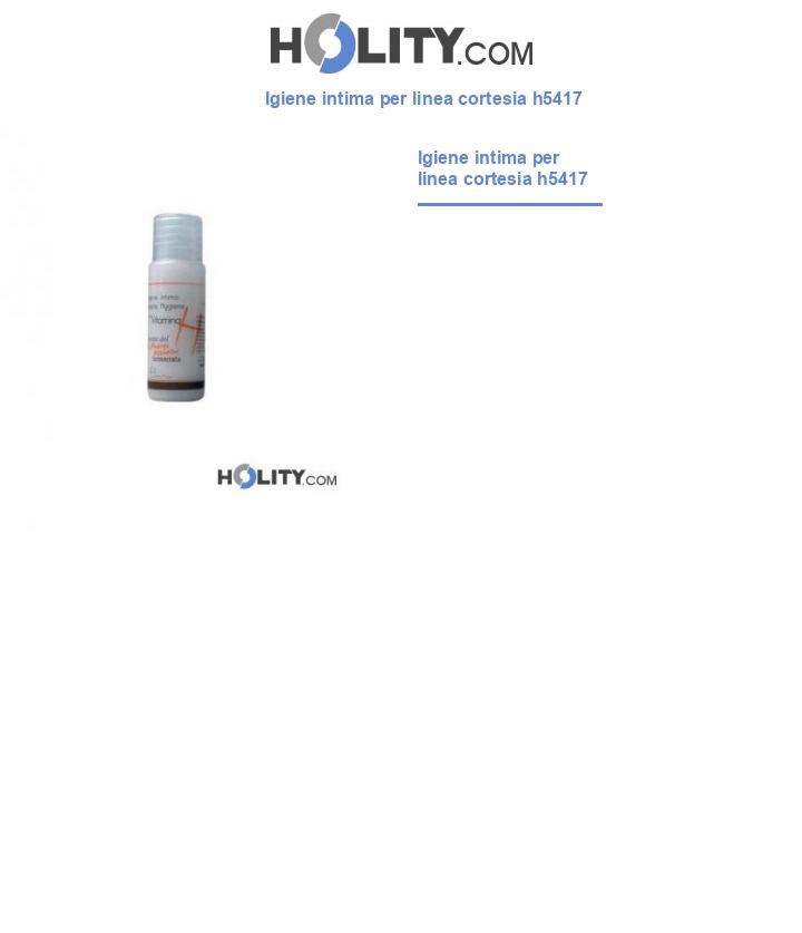 Igiene intima per linea cortesia h5417