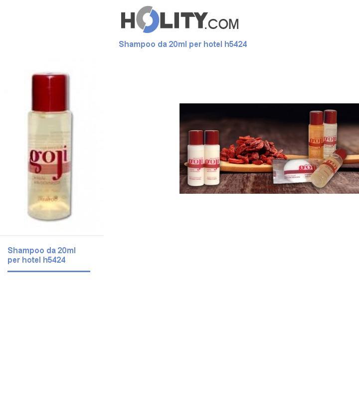 Shampoo da 20ml per hotel h5424