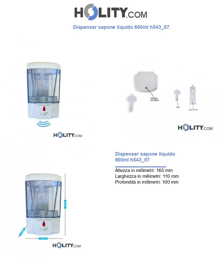 Dispenser sapone liquido 600ml h543_07