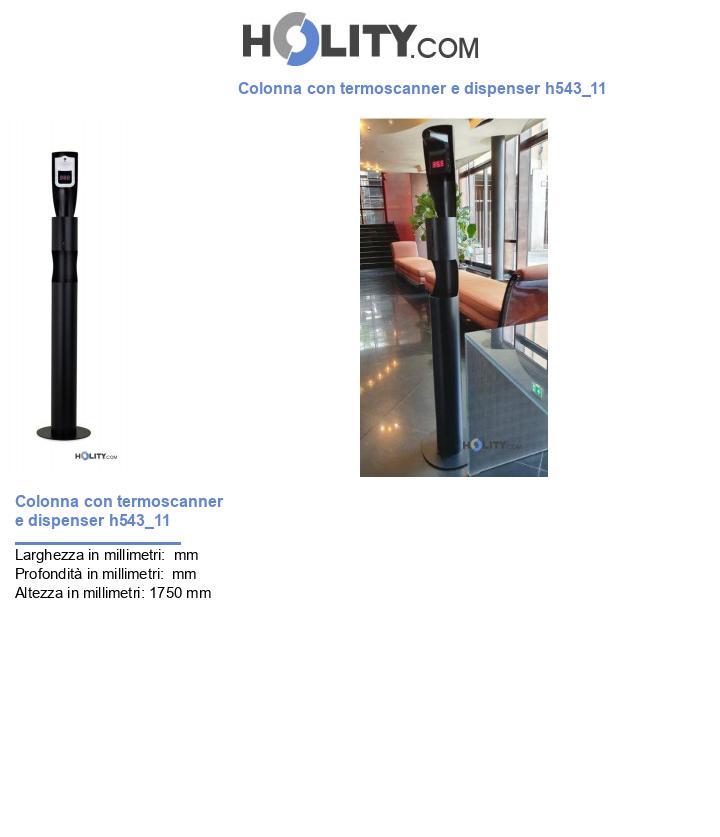 Colonna con termoscanner e dispenser h543_11