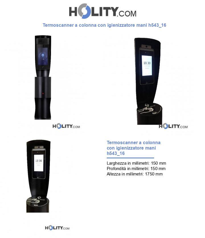 Termoscanner a colonna con igienizzatore mani h543_16