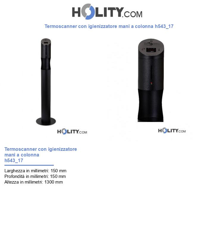 Termoscanner con igienizzatore mani a colonna h543_17