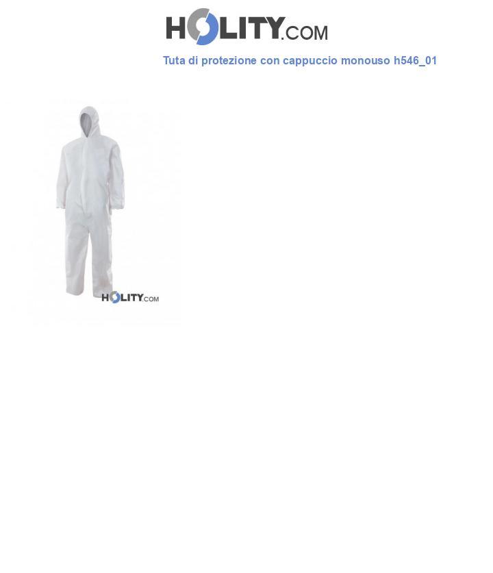 Tuta di protezione con cappuccio monouso h546_01