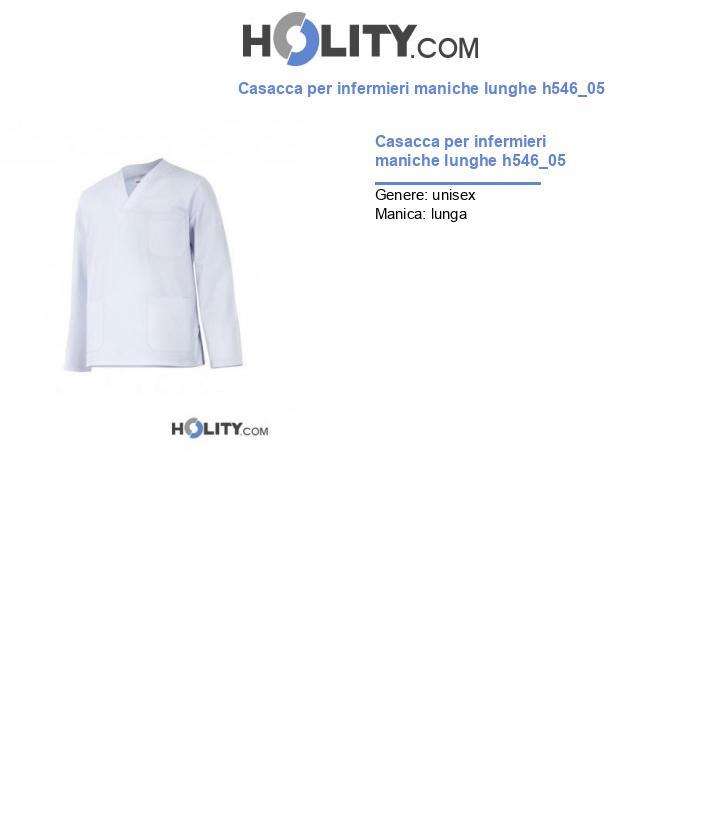 Casacca per infermieri maniche lunghe h546_05