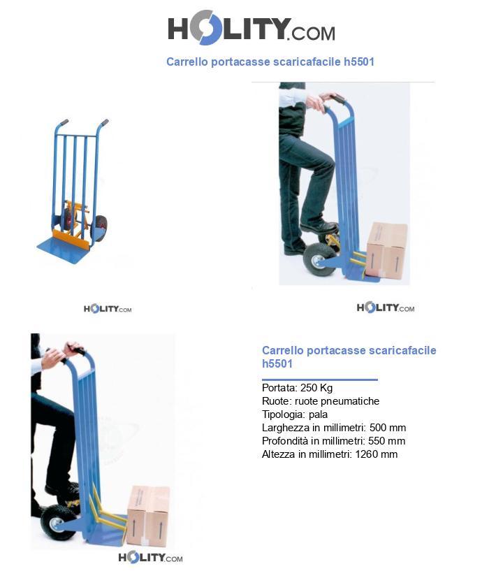 Carrello portacasse scaricafacile h5501