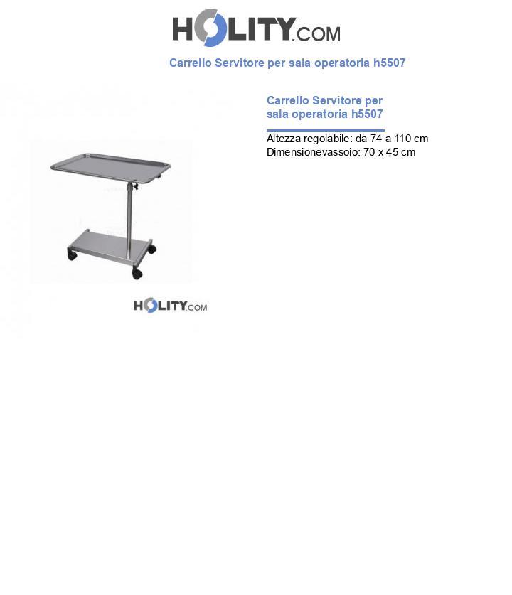 Carrello Servitore per sala operatoria h5507