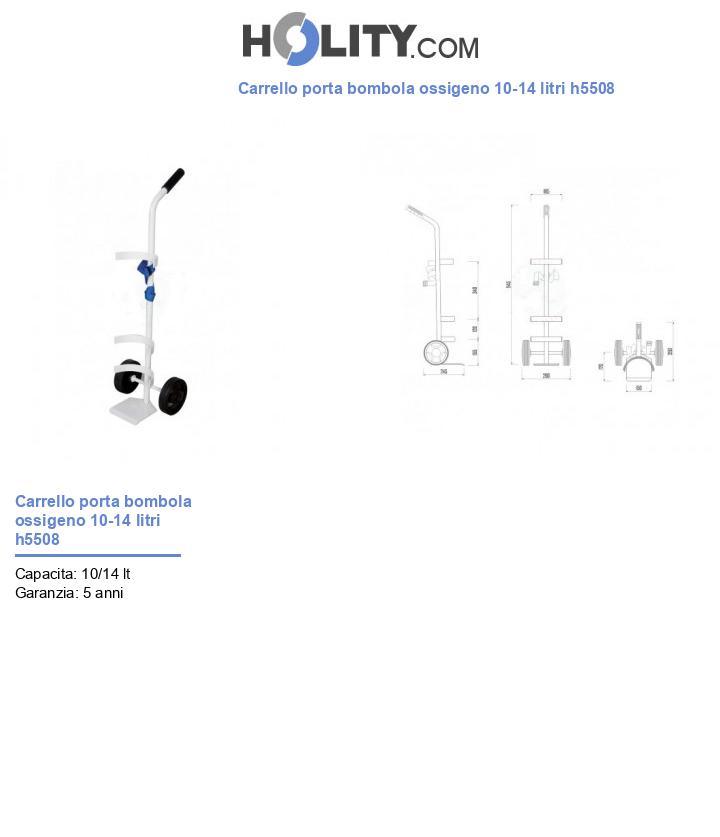 Carrello porta bombola ossigeno 10-14 litri h5508