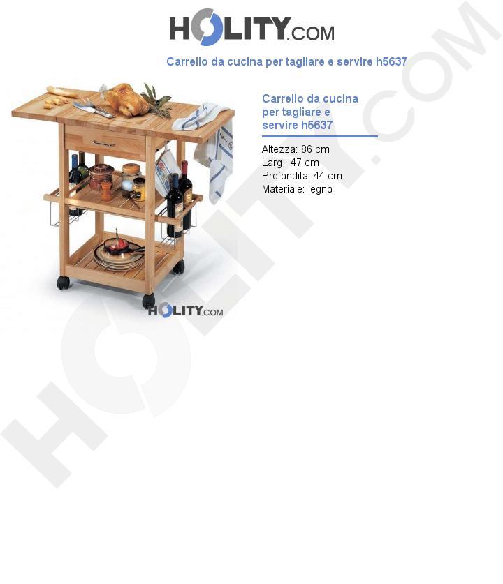 Carrello da cucina per tagliare e servire h5637