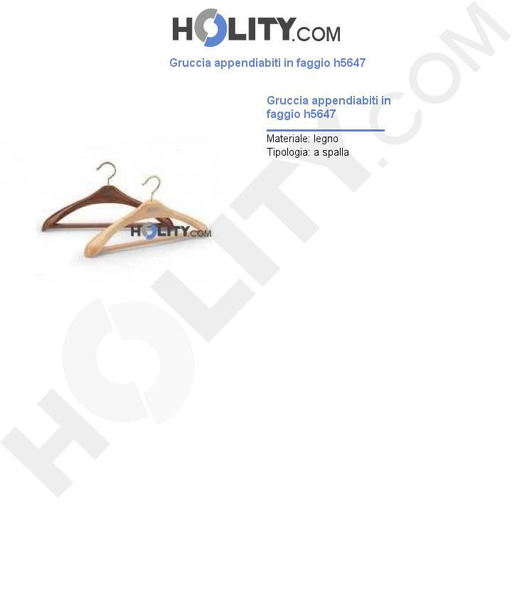 Gruccia appendiabiti in faggio h5647