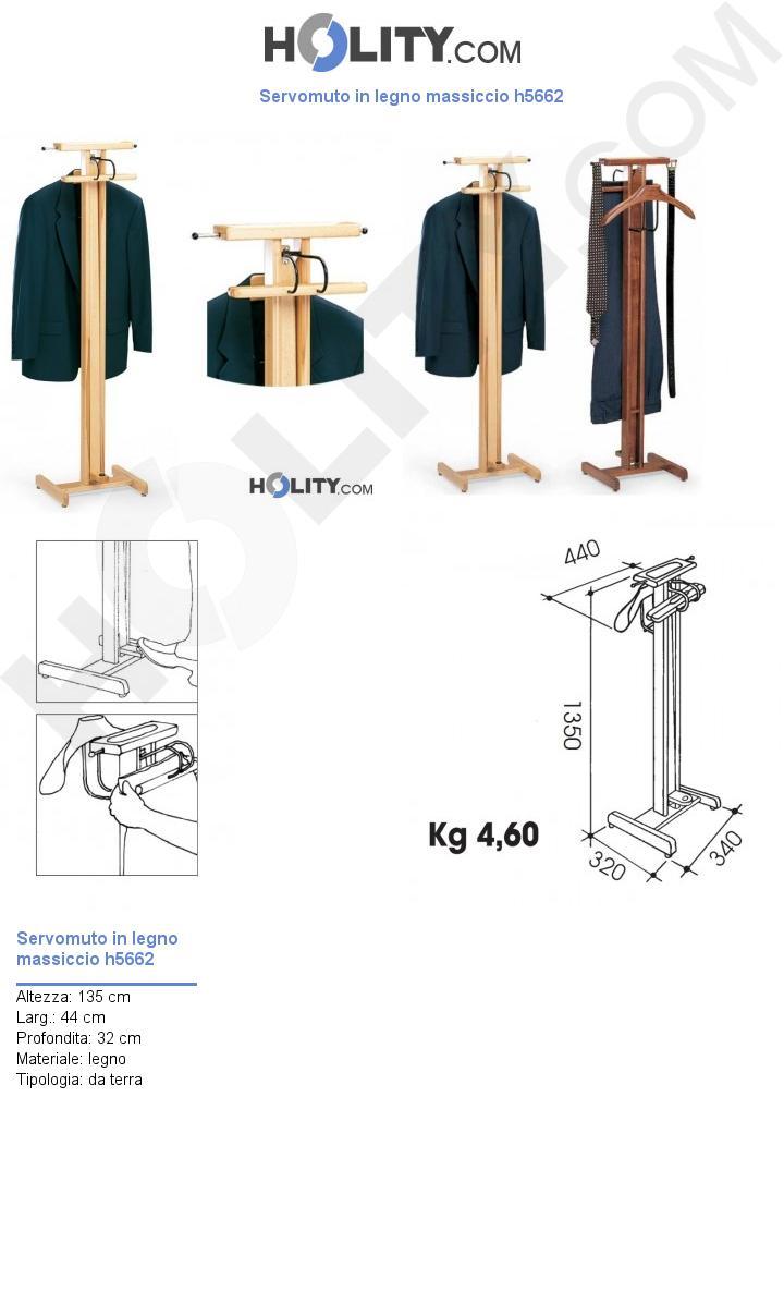 Servomuto in legno massiccio h5662